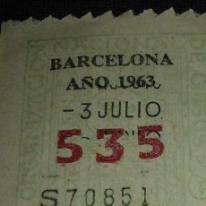 Cupones ONCE: CUPON CAPICUA ONCE 535, AÑO 1963. Lote 47377053