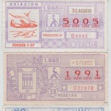 Cupones ONCE: 4 CUPONES DE LA ONCE . CAPICUAS - AÑO 1984 Y 1985. Lote 48602075