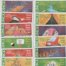 Cupones ONCE: 16 CUPONES DE LA ONCE - TEMA: ECOLOGÍA - AÑO 1991. Lote 48602149