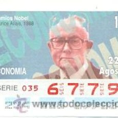 Cupones ONCE: 8-940822. CUPÓN ONCE. PREMIOS NOBEL. MAURICE ALLAIS. Lote 49329110