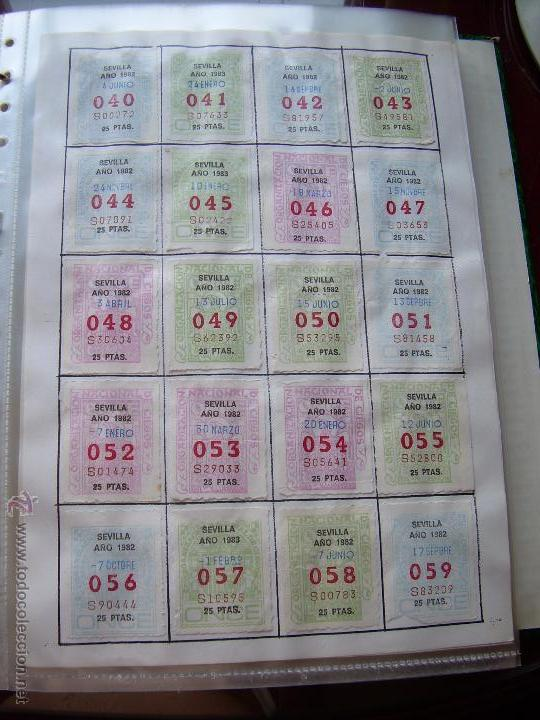 Cupones ONCE: CUPONES DE LA ONCE COLECCION COMPLETA POR NUMEROS DEL 000 AL 999 PEGADOS PARTE SUPERIOR - DIFE. AÑOS - Foto 3 - 56824700