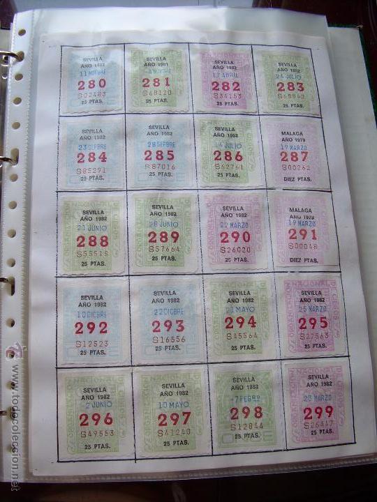 Cupones ONCE: CUPONES DE LA ONCE COLECCION COMPLETA POR NUMEROS DEL 000 AL 999 PEGADOS PARTE SUPERIOR - DIFE. AÑOS - Foto 4 - 56824700