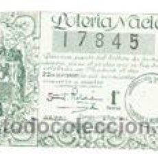 Cupones ONCE: DECIMO DE LOTERIA NACIONAL, SORTEO27 DEL AÑO 1944. Lote 49973346