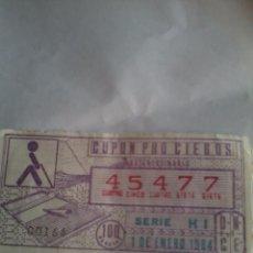 Cupones ONCE: CUPON PRO CIEGOS EXTRAORDINARIO 1 DE ENERO 1984. Nº 45477. Lote 50627565