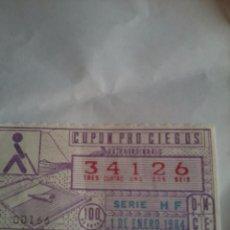 Cupones ONCE: CUPON PRO CIEGOS ONCE EXTRAORDINARIO 1 DE ENERO 1984. Nº 34126. Lote 50627584