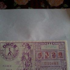 Cupones ONCE: CUPON PRO CIEGOS. 2 FEBRERO 1984 Nº 4328. Lote 50627587