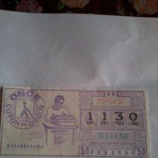Cupones ONCE: CUPÓN PRO CIEGOS. 20 FEBRERO. 1984 Nº 1130 ( MECANOGRAFIA ). Lote 50627613