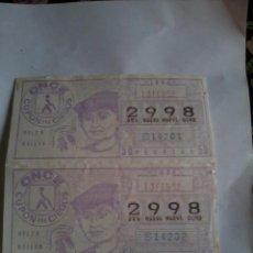 Cupones ONCE: CUPÓN PRO CIEGOS 2 Nº. 13 FEBRERO 1984. Nº 2998 ( HELEN KELLER ) . Lote 50627622