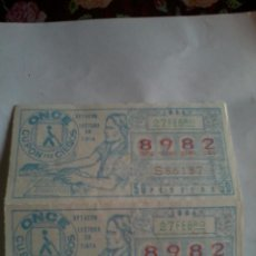 Cupones ONCE: CUPON PRO CIEGOS ONCE. 2 Nº. 27 FEBRERO 1984. Nº 8982. ( OPTACON LECTURA EN TINTA.). Lote 50627629