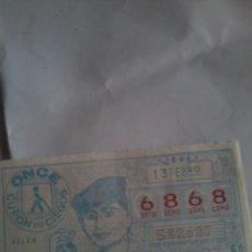 Cupones ONCE: CUPÓN PRO CIEGOS ONCE. 13 DE FEBRERO 1984 Nº 6868 HELEN KELLER. Lote 50627682
