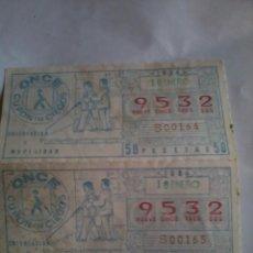 Cupones ONCE: CUPÓN PRO CIEGOS ONCE. 2 Nº. 18 DE ENERO 1984. Nº 9532. ORIENTACIÓN Y MOVILIDAD.. Lote 50627687