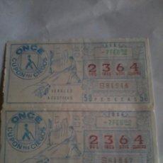 Cupones ONCE: CUPÓN PRO CIEGOS ONCE. 2 Nº. 7 FEBRERO 1984. Nº 2364. SEÑALES ACUTICAS. Lote 50627700