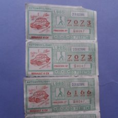ONCE Coupons - 4 cupones once año 1985 automovilismo - 51632010