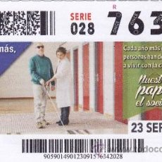 Cupones ONCE: Nº 76342 (23/SEPTIEMBRE/2015). Lote 51799911