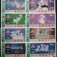 Cupones ONCE - LOTERÍA ONCE WALD DISNEY 101 DALMATAS SERIE DE 8 CUPONES DE 1996 - 52136267