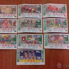 Cupones ONCE: LOTE DE 10 CUPONES AÑO 94/95 SERIE JUGUETES. Lote 52698671