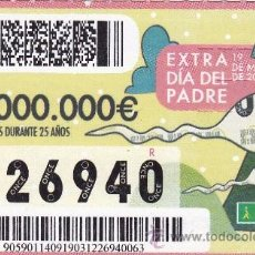 Cupones ONCE: Nº 26940 (19/MARZO/2012) EXTRA DIA DEL PADRE. Lote 52940405