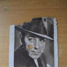Cupones ONCE: ANTIGUO CUPON SOCIEDAD CIEGOS HISPALENSE - ARTISTAS DE CINE - GEORGE RAFT - AÑO 1935. Lote 53197754