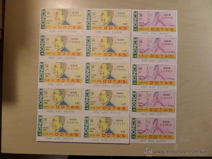 Cupones ONCE: Lotazo de numeros de la ONCE en bloques de 4,5,10 etc. Estan todos los que hay en las fotografias - Foto 2 - 53323785