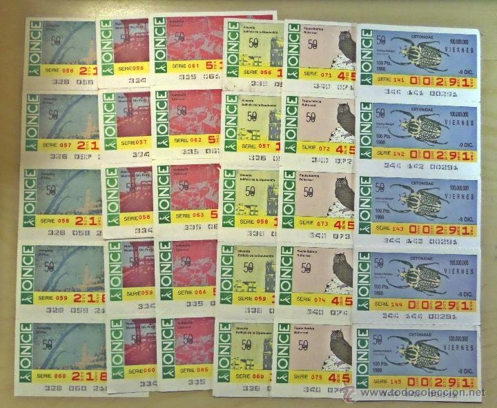 Cupones ONCE: Lotazo de numeros de la ONCE en bloques de 4,5,10 etc. Estan todos los que hay en las fotografias - Foto 8 - 53323785