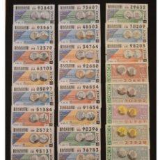 Cupones ONCE: LOTE 88 CUPONES DISTINTOS ONCE CUPON TEMATICO MONEDAS CONMEMORATIVAS ESPAÑA 1994 1995 Y 2015. Lote 53578229