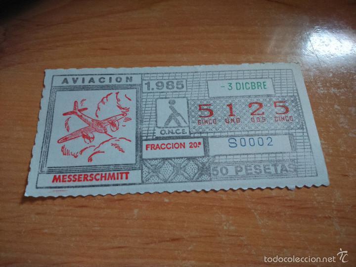 ONCE 1985 AUTOMOVILISMO 1985. MESSERSCHMITT (Coleccionismo - Lotería - Cupones ONCE)