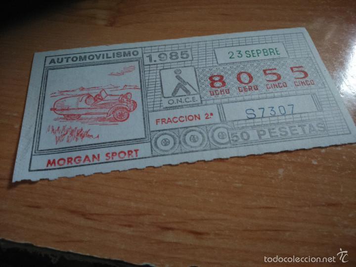 ONCE 1985 AUTOMOVILISMO 1985. MORGAN SPORT (Coleccionismo - Lotería - Cupones ONCE)