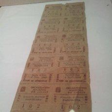 Cupones ONCE: 10 CUPONES DE LA ONCE DEL 6 NOVIEMBRE 1946- DELEGACION BARCELONA. Lote 58158862