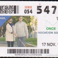 Cupones ONCE: Nº 54761 (17/NOVIEMBRE/2015). Lote 60710723