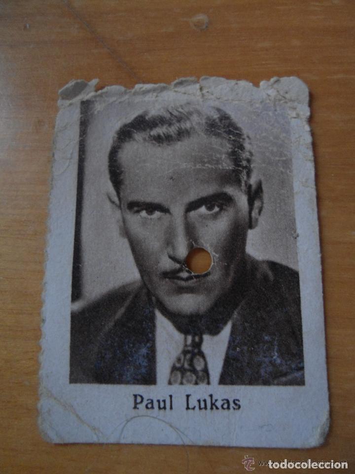ANTIGUO CUPON SOCIEDAD CIEGOS HISPALENSE - ARTISTAS DE CINE - PAUL LUKAS - AÑO 1935 (Coleccionismo - Lotería - Cupones ONCE)