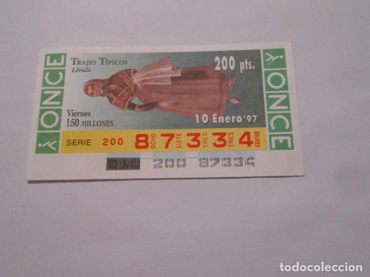 CUPON DE LOTERIA LERIDA - TRAJES TIPICOS - 10 ENERO 1997 - ONCE - TDKP8 (Coleccionismo - Lotería - Cupones ONCE)
