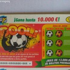 Cupones ONCE: RASCAS ONCE JUEGO GOOL!!. PROMOCIONAL PUBLICIDAD. Lote 64014535