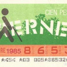 Cupones ONCE: CUPON ONCE - 86532 - SORTEO 08 NOVIEMBRE 1985 - SORTEO VIERNES. Lote 64406547