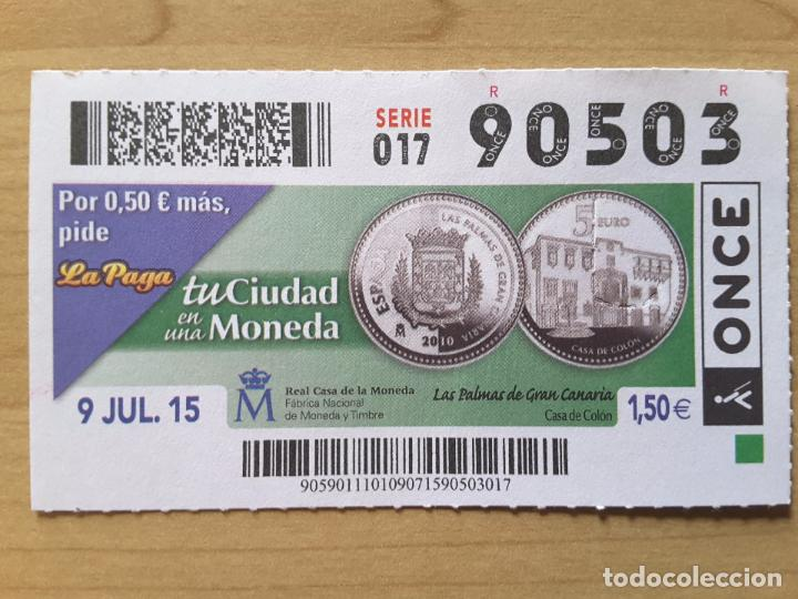 CUPÓN ONCE 9 JULIO 2015 (NÚMERO 90503) (Coleccionismo - Lotería - Cupones ONCE)