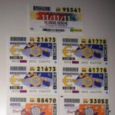Cupones ONCE: CATORCE ANTIGUOS CUPONES DE LA ONCE. Lote 66828286