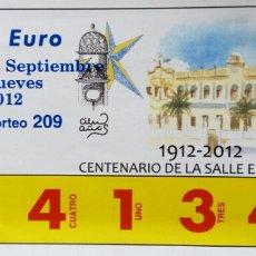 Cupones ONCE: BILLETE RIFA DE CARIDAD. Lote 70030194