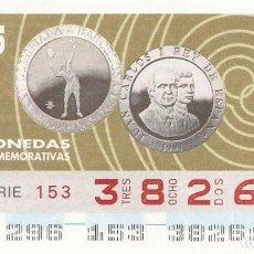 Cupones ONCE: CUPON ONCE - 38261 - SORTEO 23 OCTUBRE 1995 - MONEDAS CONMEMORATIVAS. Lote 75779179