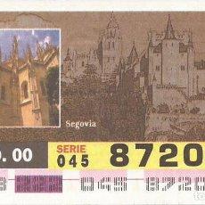 Cupones ONCE: CUPON ONCE - 87206 - SORTEO 09 AGOSTO 2000 - SERIE 045 - PATRIMONIO DE LA HUMANIDAD. Lote 76910227