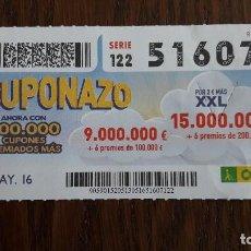 Cupones ONCE - cupón once 13-05-16 cuponazo. - 80227881