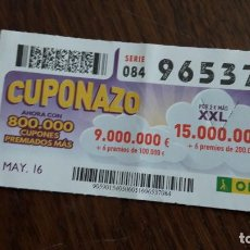 Cupones ONCE - cupón once 06-05-16 cuponazo. - 80664514