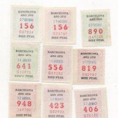 Cupones ONCE: CUPONES ANTIGUOS DE LA ONCE AÑO ( UNO DE 1975 Y EL RESTO DE 1976) 12 CUPONES 1 DE CADA MES. Lote 81117744