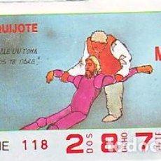 Bilhetes ONCE: ESPAÑA. ONCE. 1990. QUIJOTE: MAS VALE UN TOMA ... FECHA: 28 NOV. EL NÚMERO PUEDE VARIAR. Lote 81638472