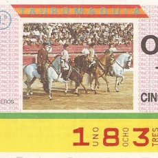 Cupones ONCE: CUPON ONCE - 1836 - SORTEO 31 MARZO 1987 - TAUROMAQUIA. Lote 82199428