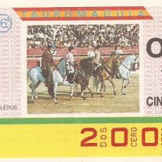 Cupones ONCE: CUPON ONCE - 2001 - SORTEO 31 MARZO 1987 - TAUROMAQUIA. Lote 82199520