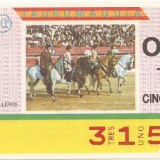Cupones ONCE: CUPON ONCE - 3150 - SORTEO 31 MARZO 1987 - TAUROMAQUIA. Lote 82199660