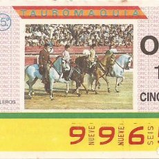 Cupones ONCE: CUPON ONCE - 9965 - SORTEO 31 MARZO 1987 - TAUROMAQUIA. Lote 82200216