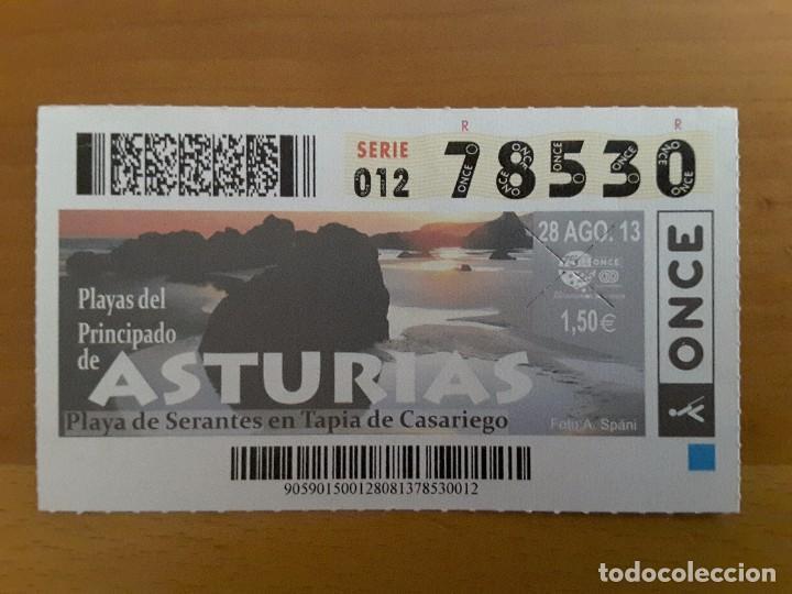 CUPÓN 28 AGOSTO 2013 - ASTURIAS (Coleccionismo - Lotería - Cupones ONCE)