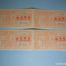 Cupones ONCE: LOTE DE 4 NÚMEROS DE LA ONCE AÑO 1985 (OVIEDO) . Lote 89523276