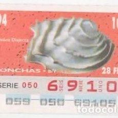 Cupones ONCE: CUPÓN ONCE - 28 DE FEBRERO DE 1994. Lote 96086363