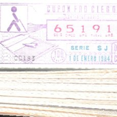 Cupones ONCE: CUPONES DE LA ONCE- AÑO 1984 - 181 DISTINTOS. Lote 96694867